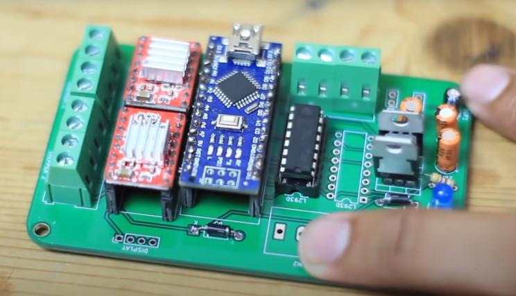 arduino braider complete pcb