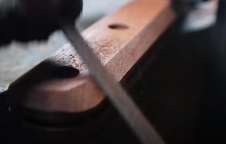 diy giant razor handle round edges
