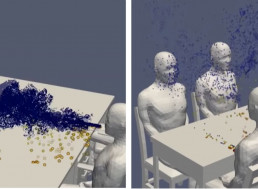 This Revolting Supercomputer Simulation Shows How COVID-19 Spreads at a Table