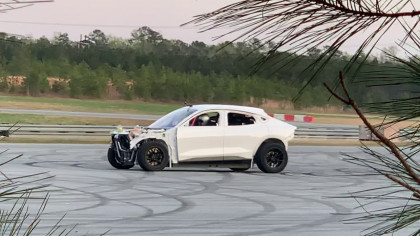 Leaked Video of a Drift-Modified Mustang Mach-E Shows the Car Going Fast and Doing Donuts