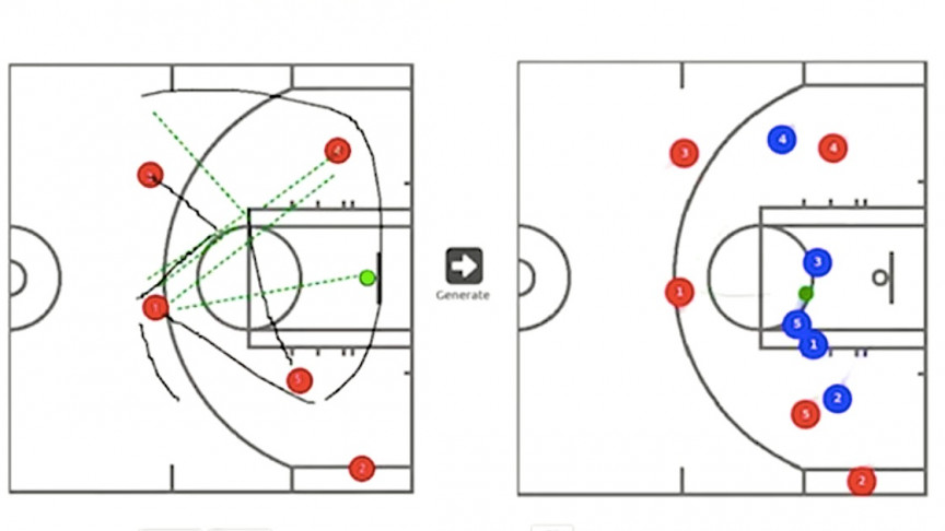 Watch AI Help Basketball Coaches Outmaneuver the Opposition