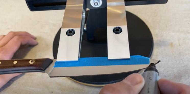 diy knife sharpener mark knife