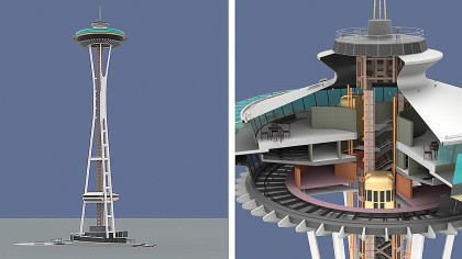 YouTuber Shows How Seattle's Famous Space Needle Was Built with 3D Animation