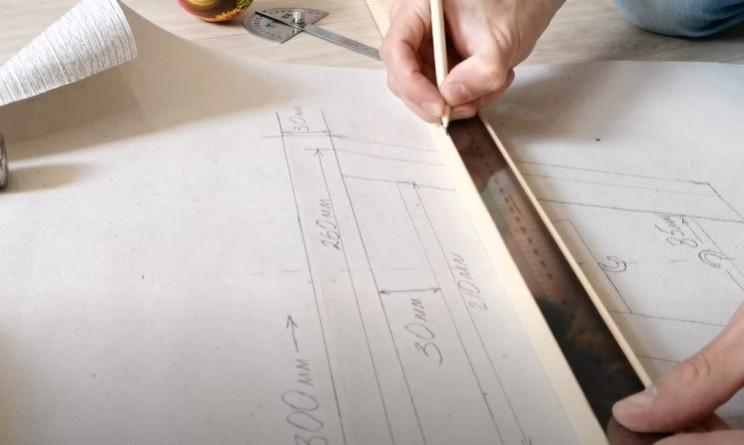 diy floating table horizontal elements