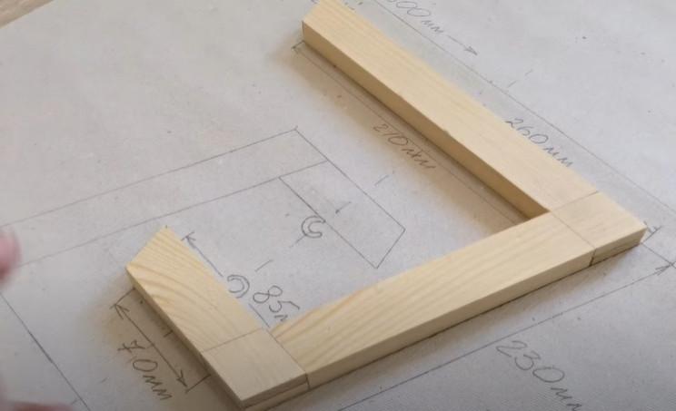 diy floating table mock assembly