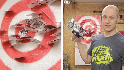 Man Builds Scary Handheld Blaster That Fires Playing Cards at 120 Miles per Hour