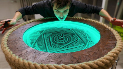 YouTuber Develops Sand Machine That Erases Everything It Creates