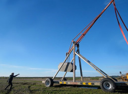 Mad Scientist Makes Washing Machine Fly With Massive Trebuchet
