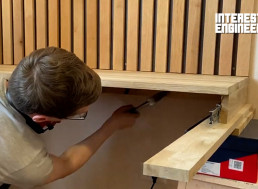 How to Make Your Own Wooden Slat-Backed Floating Desk