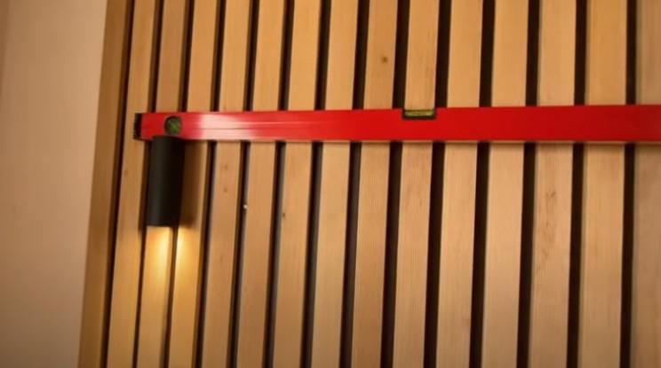 diy floating table install lights