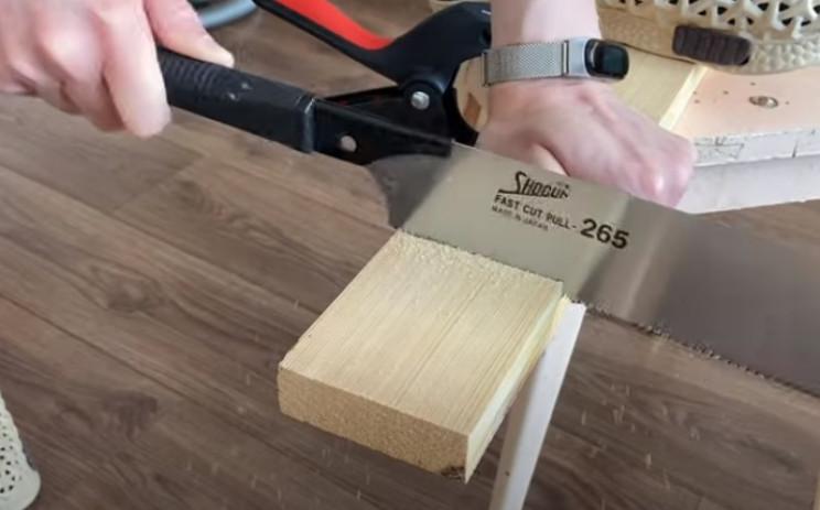 diy floating desk fascade cut