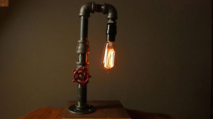 Create the Coolest Industrial Table Lamp on Your Own