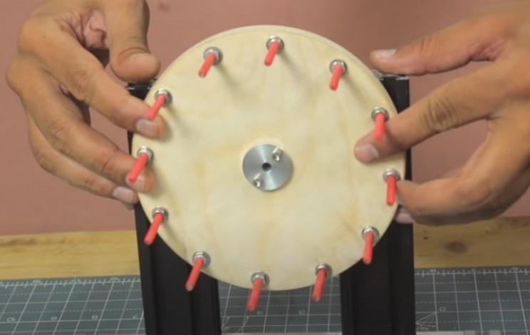 diy rodin winder wheel in place
