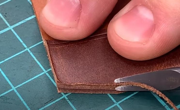 diy leather passport holder bevel