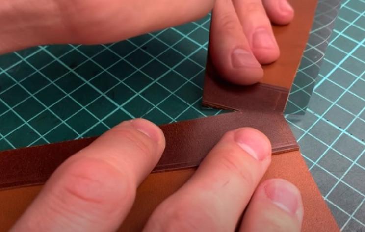 diy leather passport holder cut corners