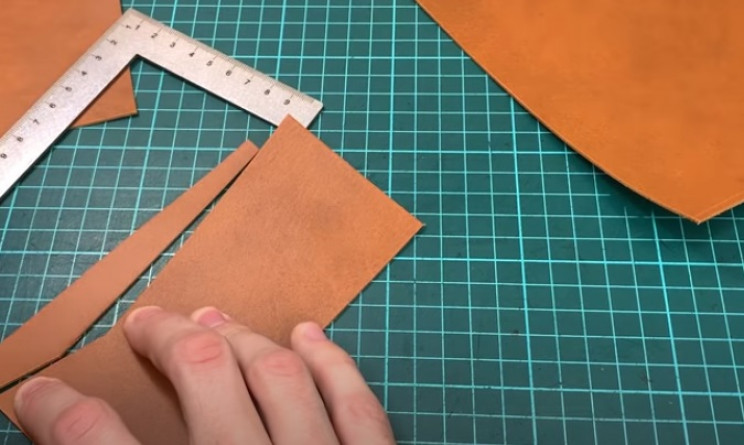 diy leather passport cut out bits