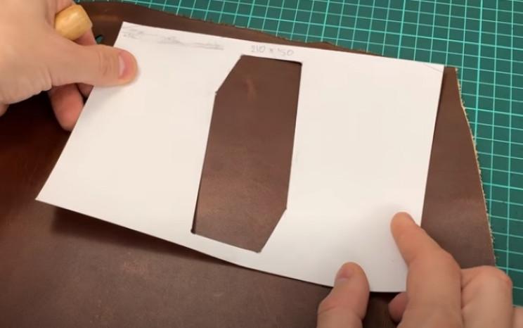 diy leather passport cover darker tones