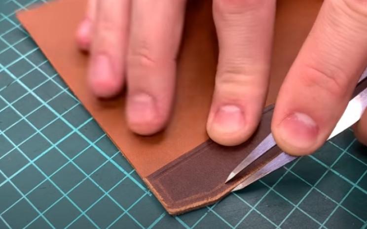 diy leather passport holder gauge