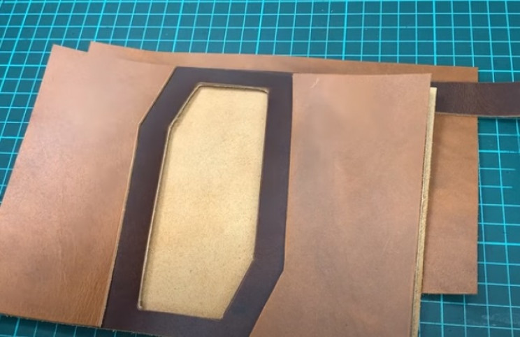 diy leather passport cover pieces