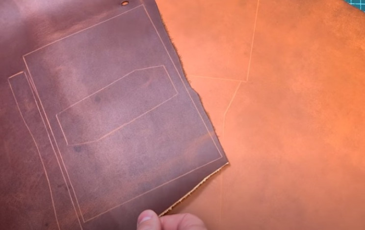 diy leather passport covers scored