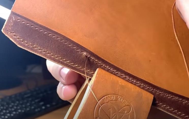diy leather passport holder sew
