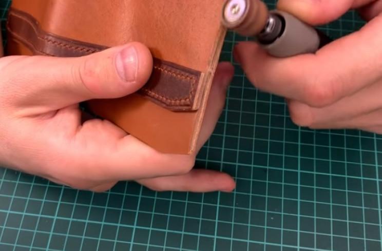 diy leather passport dremel edges