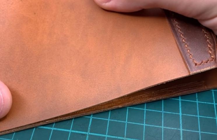 diy leather wallet glue main parts
