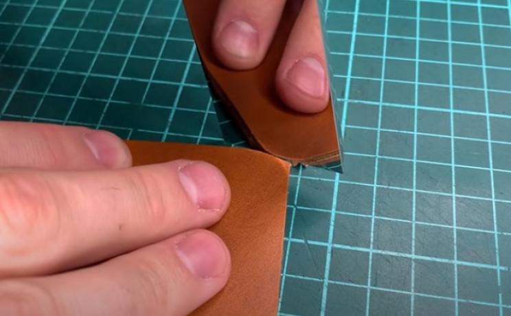 diy leather wallet passport holder round edges