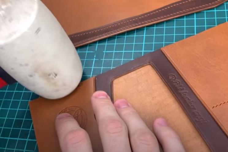 diy passport holder wallet seams
