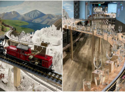 Watch This Model Train Play A Classic Hits Medley on 2,840 Glasses