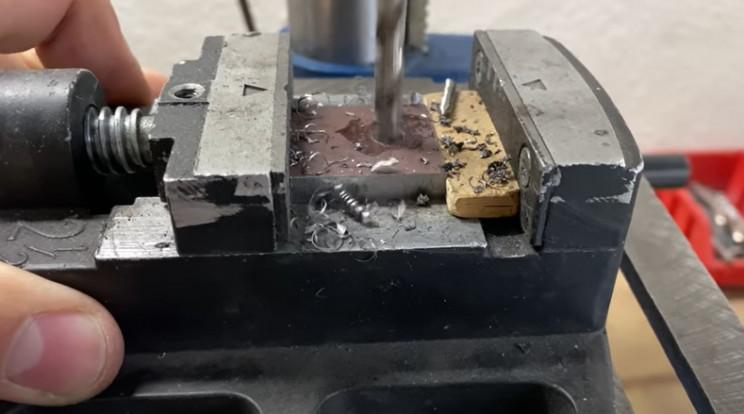 diy gate drill hole