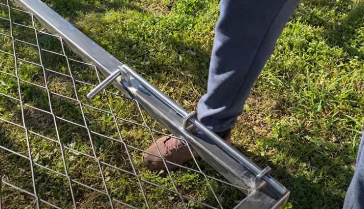 diy gate lock complete