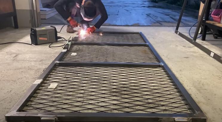 diy gate expanded steel infills