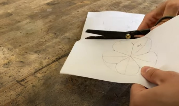 diy steel rose cut out templates