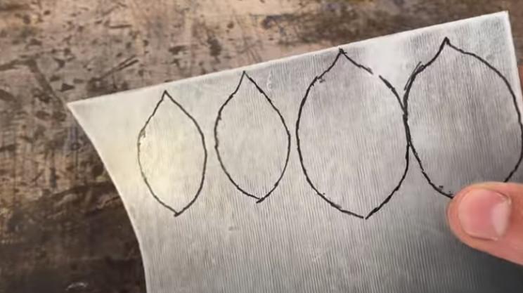 diy steel rose leaf shapes