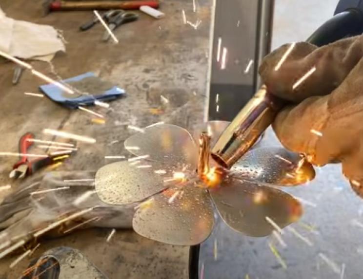 diy steel rose weld