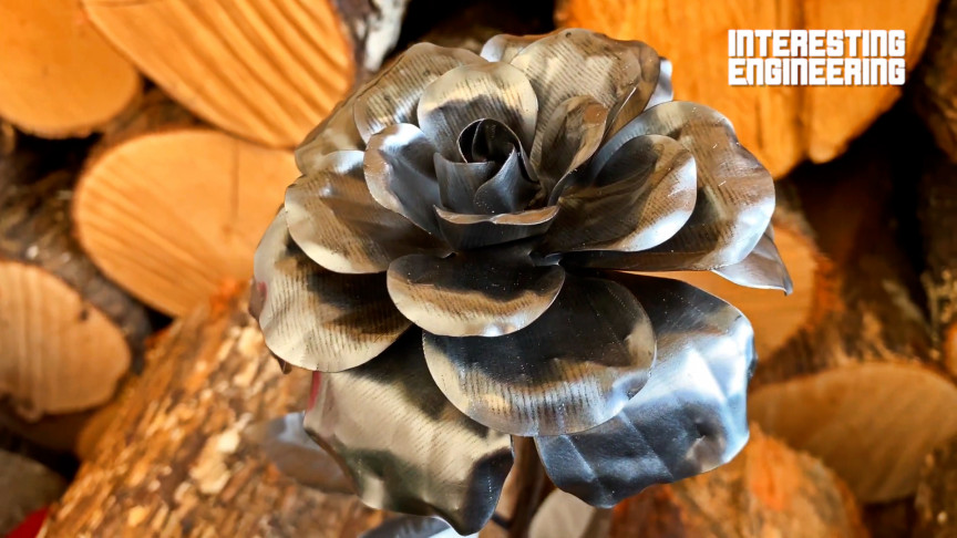 Turn Old Metal into a Magnificent Steel Rose