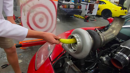 This 88mm Turbo Engine Chews, Spews Fruit at Target Like a Garbage Disposal