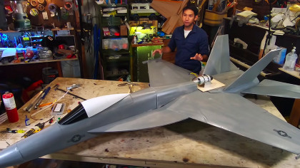 Building a Giant F-18 Plane with Foam, Paper, and a Real Jet Turbine