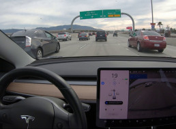 Be Swayed by a Waltz as This Tesla Merges in Traffic on Autopilot