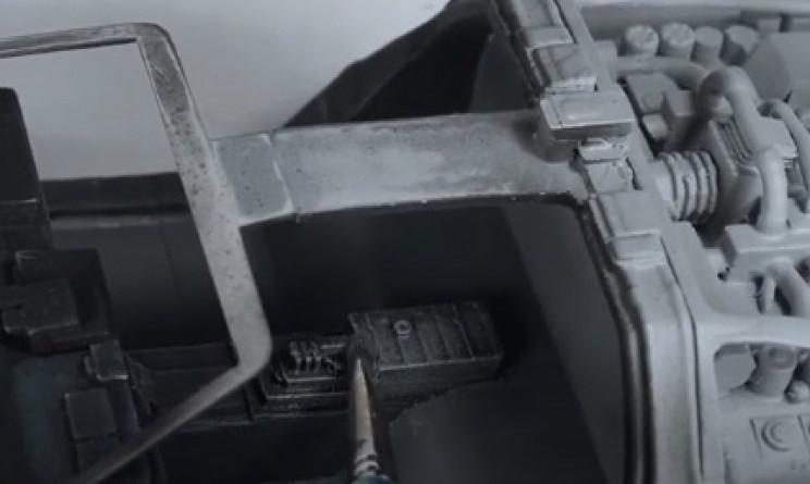 diy dmc-12 drybrushing silver