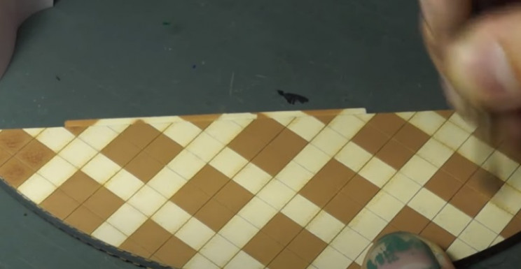 diy soviet dioramam ceramic floors