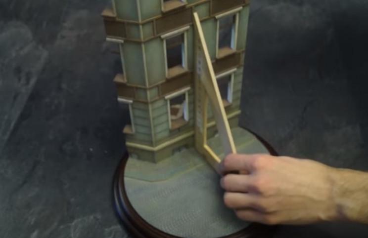 diy soviet diorama erect buildings