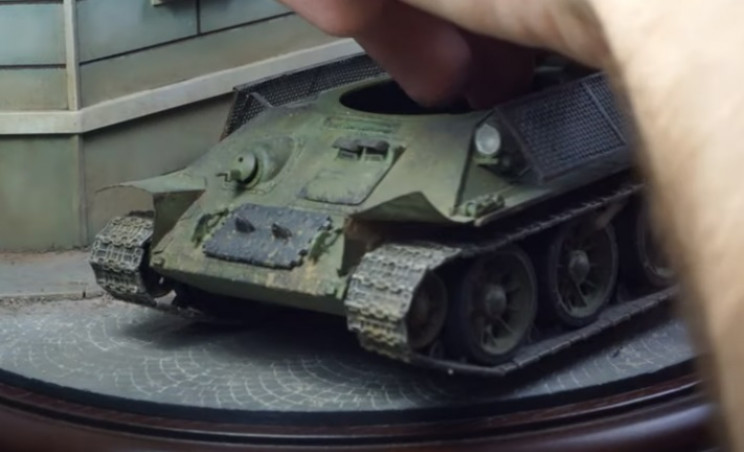 diy ww2 soviet diorama tank