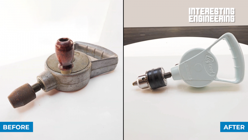 How to Lovingly Restore a Vintage Leytool Hand-Cranked Drill
