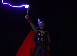 Engineer 3D Prints Thor's Hammer And Hits It With 400,000 Volts