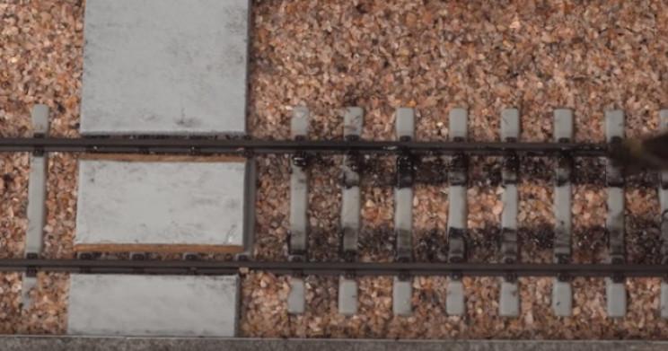 diy train diorama aging tracks