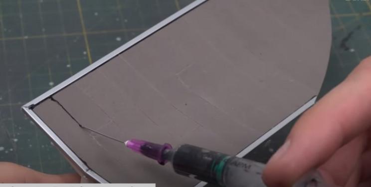 diy diorama roof bitumen