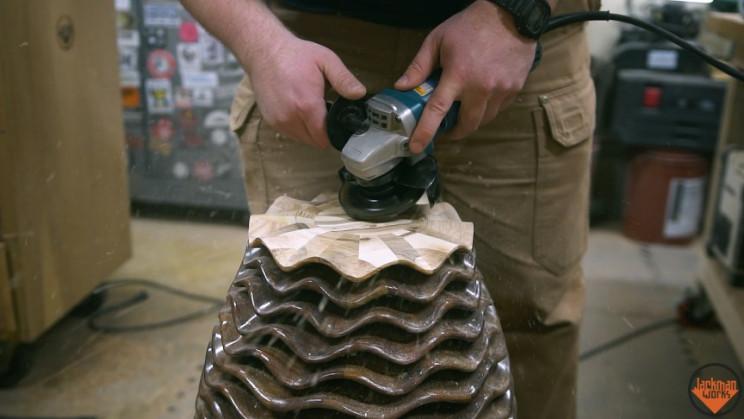 wood vase base