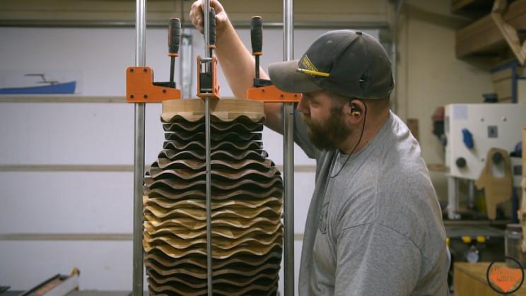 wooden vase glue halves